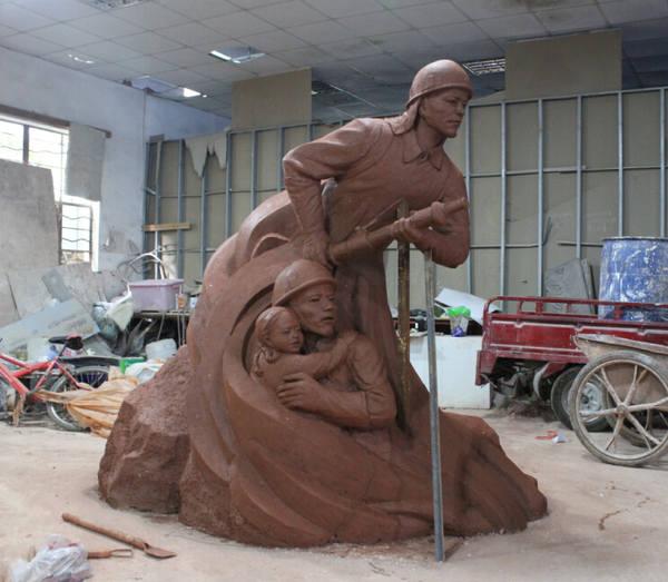 安徽大宇景观雕塑艺术有限公司--池州消防队泥塑